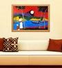 Elegant Arts and Frames Canvas & Wood 38.5 x 1 x 27.5 Inch Kerala Landscape Framed Original Oil painting