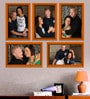 Elegant Arts and Frames Orange Plastic 27.5 x 1 x 22 Inch Group 5-A Wall Collage Photo Frame