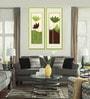 Elegant Arts And Frames Premium Digital Paper 14 x 1 x 38 Inch Framed Art Panels - Set of 2