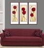 Elegant Arts And Frames Premium Digital Paper 14 x 1 x 38 Inch Framed Art Panels - Set of 3