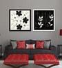 Elegant Arts And Frames Premium Digital Paper 22 x 1 x 22 Inch Framed Art Panels - Set of 2
