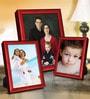 Elegant Arts And Frames Red Metal Photo Frame - Set of 3