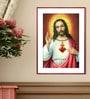 Elegant Arts and Frames Canvas 16 x 22 Inch Sacred Heart Framed Art Print