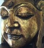 Golden Wooden Buddha Head Wall Hanging by Eleganze Decor
