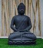 Grey Resin Meditate Buddha Showpiece by Eleganze Decor