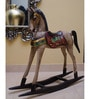 Multicolour Wooden Baby Horse Showpiece by Eleganze Decor