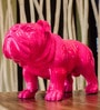 Pink Resin Bulldog Showpiece by Eleganze Decor