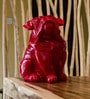 Eleganze Decor Red Resin Bulldog Showpiece
