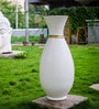 White Ceramic Vase by Eleganze Decor