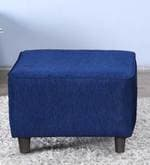 Emerald Pouffe in Navy Blue Colour