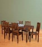 Emerald Six Seater Dining Set in Walnut Finish