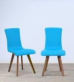 Emiliano Dining Chair (Set of 2) in Cerulean Blue Color