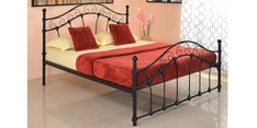 Emma Queen Size Bed in Grey Finish