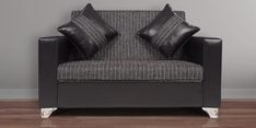 Empire Two Seater Sofa in Black Colour