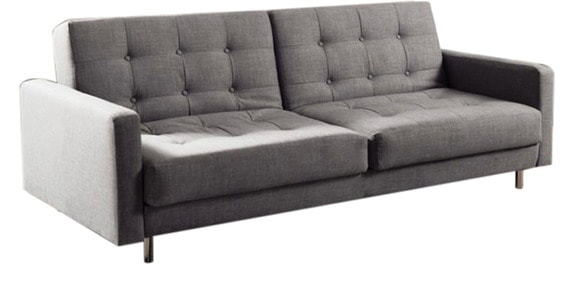 Emry Twin Back Comfortable Sofa Bed With Arms In Grey Colour By Furny