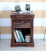 Carleson End Table in Provincial Teak Finish