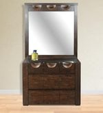 Enrique Dressing Table Wth Mirror in Wenge Colour