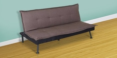 Enzo Sofa cum Bed in Brown Colour