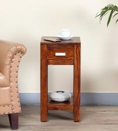 Oriel End Table In Honey Oak Finish