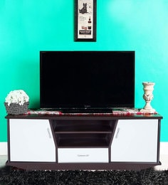 Entertainment Unit In Brown & Cream Colour By Karigar