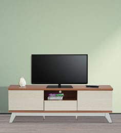 Entertainment Unit In Cherry With Light Oak Finish By Marco - 1540091