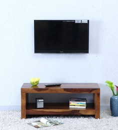 Acropolis Entertainment Unit In Provincial Teak Finish