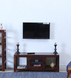 Entertainment Unit In Provincial Teak Finish