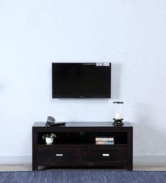 Oriel Two Drawer Entertainment Unit In Warm Chestnut Finish