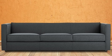 Enthralling Three Seater Sofa In Grey Colour