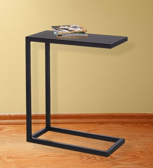 End Table C Steel In Black Color By Asian Arts