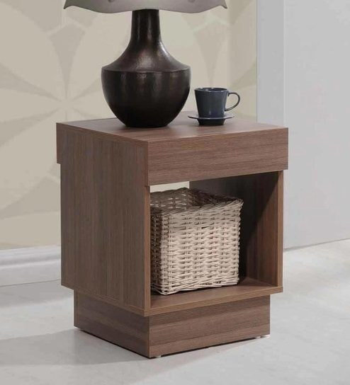 Pepperfry: End Table in Dirty Oak Finish by Evergreen @ Rs.999/- Only