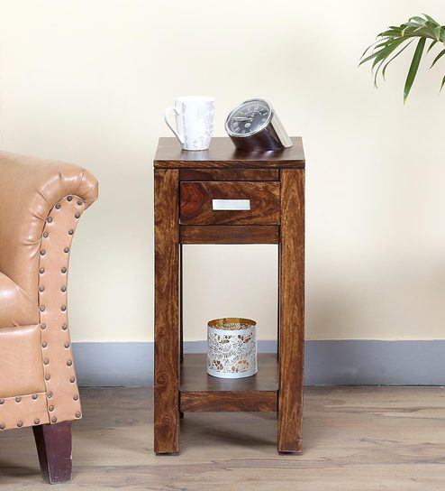 Oriel End Table in Provincial Teak Finish by Woodsworth
