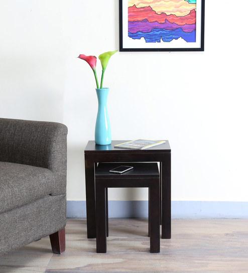 Enkel Set Of Tables in Warm Chestnut Finish by Woodsworth