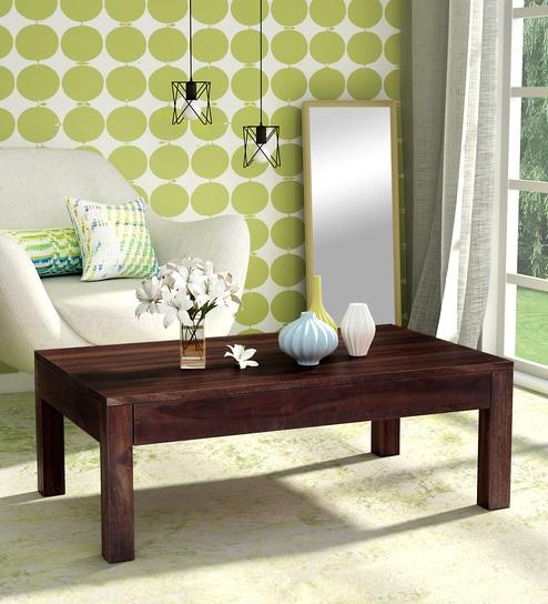 Buy Enkel Solid Wood Coffee Table In Provincial Teak