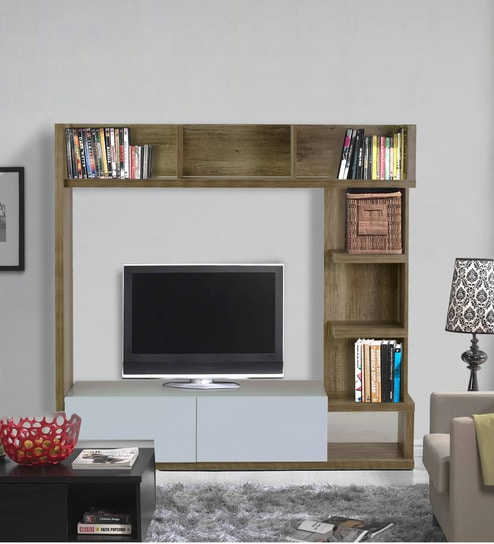 Buy Itsuki Entertainment Wall Unit in Natural Finish by Mintwud