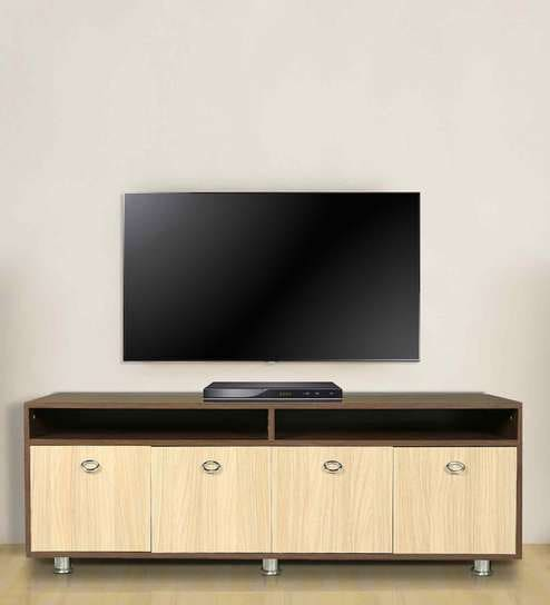 Entertainment Unit In Versailles & Walnut Finish By Arancia Mobel