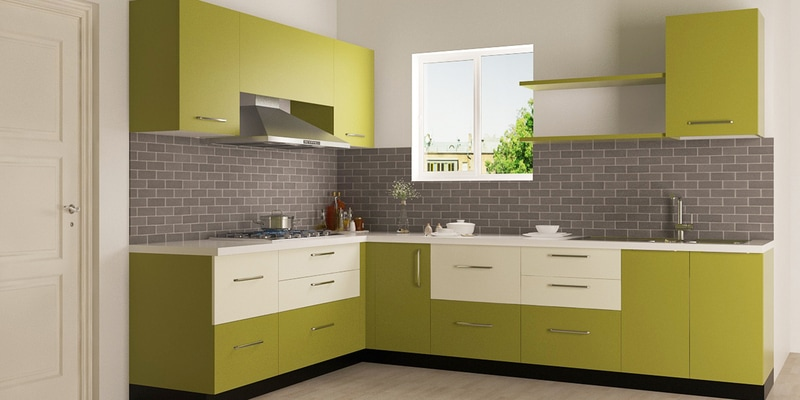 buy enzo l shaped modular kitchen designed in bwr ply with