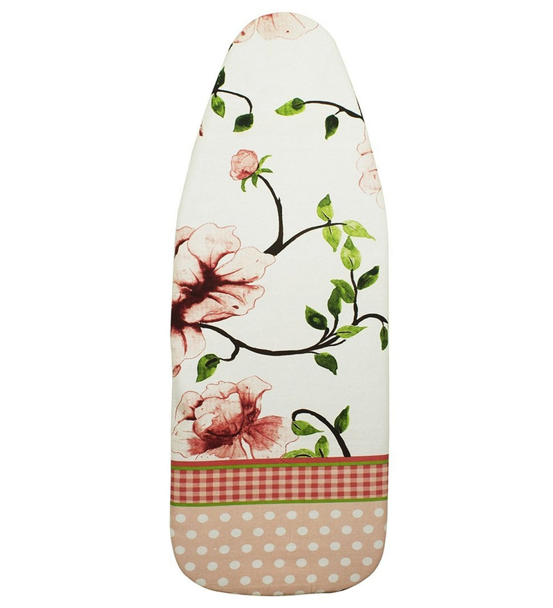 Encasa Homes Luxury Cotton Large Ironing Board Cover with Thick Pad