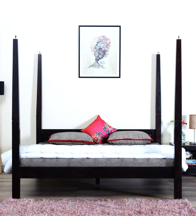 Enkel Poster Bed in Warm Chestnut Finish by Woodsworth