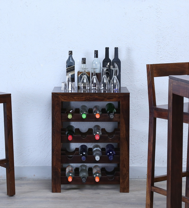 Enkel Wine Rack in Provincial Teak Finish by Woodsworth