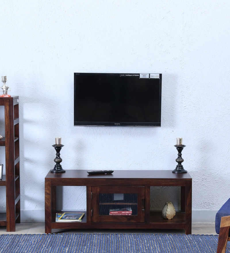 Enkel Entertainment Unit in Provincial Teak Finish by Woodsworth