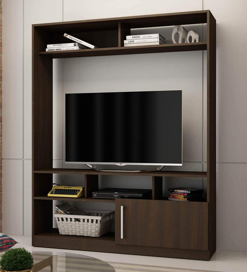 Buy aki entertainment unit in tobacco finish by mintwud for Bedroom designs dlife