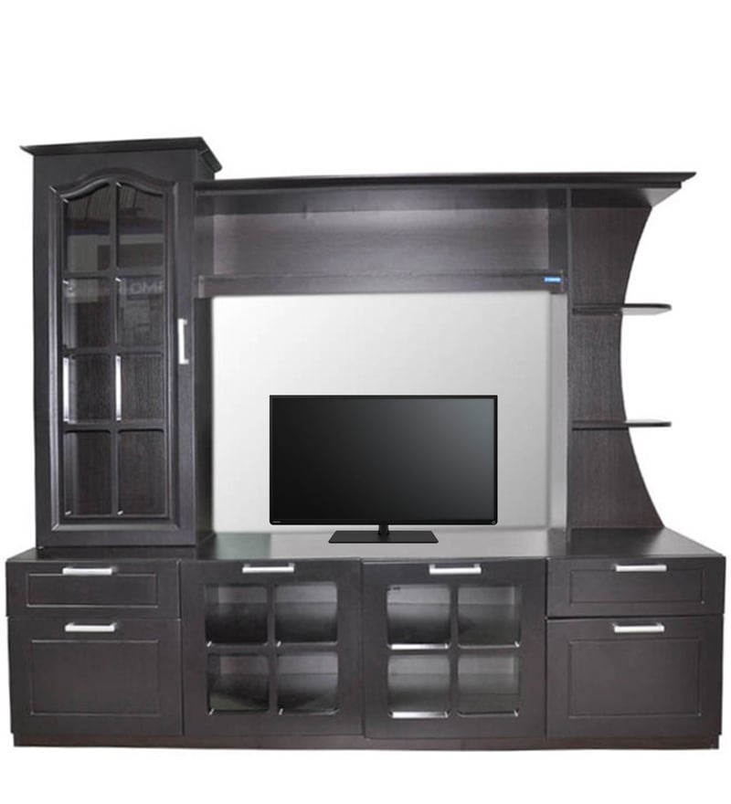 af6be2342 Buy TV Unit in Wenge Finish by Spacewood Online - Modern TV Units ...