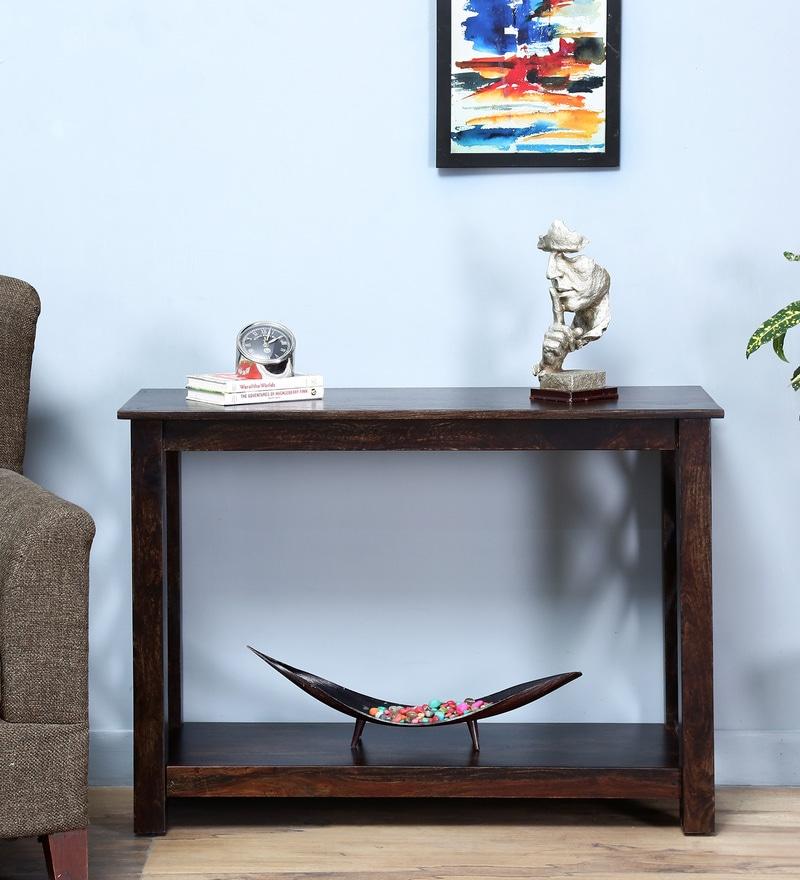 Enumclaw Console Table in Warm Chestnut Finish by Woodsworth