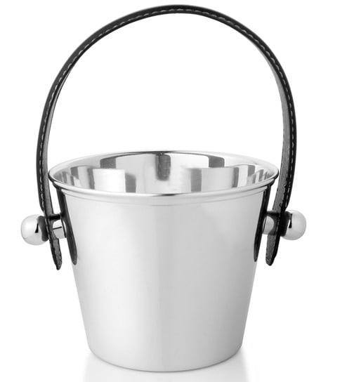 Episode Silver - Silver Plated Ice Bucket With Leather Strap