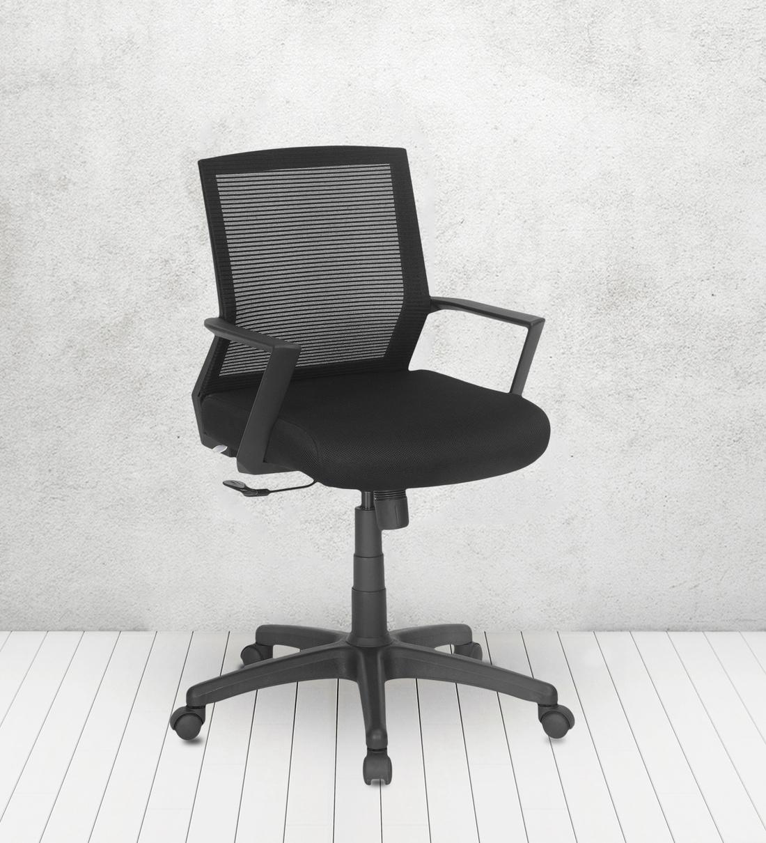Buy Erika Mid Back Mesh Ergonomic Chair in Black Color by Nilkamal