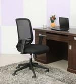 Medium Back Ergonomic Chair in Black Colour