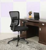 Amigo Medium Back Ergonomic Chair in Black Colour