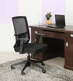 Medium Back Ergonomic Chair in Black Colour