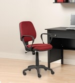 Tiago Medium Back Ergonomic Chair in Maroon Colour